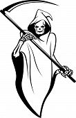 stock photo of grim-reaper  - Death sign isolated on white for tattoo design - JPG