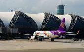 BANGKOK, THAILAND - NOV 07: Suvarnabhumi Airport on November 07, 2014. Suvarnabhumi Airport is one of two international airports serving Bangkok.