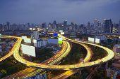 Bangkok Expressway And Highway Aerial View, Thailand