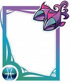 Zodiac frame series: Pisces