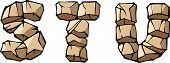 Stone alphabet: STU