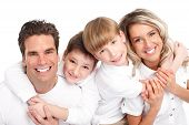 stock photo of mother child  - Happy family - JPG