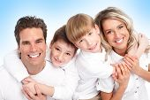 stock photo of happy family  - Happy family - JPG
