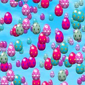 Falling Easter Eggs Generated Hires Texture