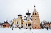 Cathedrals And Holy Spring In Holy Dormition Monastery, Staritsa, Winter