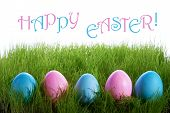 Easter Eggs With Text Happy Easter