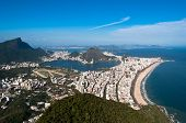 stock photo of olympic mountains  - Rio de Janeiro Aerial View Overlooking Ipanema Beach - JPG