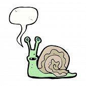 cartoon snail with speech bubble