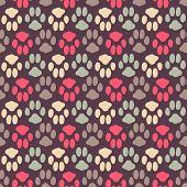 stock photo of animal footprint  - Seamless pattern with animal footprint texture - JPG