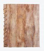 pic of mulberry  - Old brown mulberry paper book isolated  - JPG