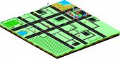 cartoon game isometric world