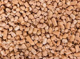 pic of non-biodegradable  - Background of wooden filler for cat litter - JPG