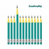 pic of daring  - leadership concept vector  - JPG