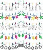 picture of shell-fishes  - Nautical holiday bunting including light house - JPG