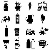 foto of milk  - milk and milk product theme icons set eps10 - JPG