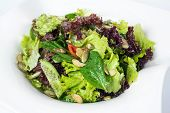stock photo of sweet pea  - Green salad with spinach - JPG