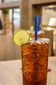 stock photo of iced-tea  - Thai Ice Tea Lemon - JPG