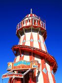 image of carnival ride  - Victorian helter skelter fairground amusement park ride - JPG