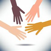 picture of racial diversity  - Diversity Image with Hands  for Print or Web - JPG