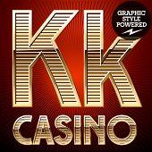 pic of letter k  - Vector set of elite rich gold alphabet - JPG