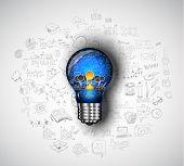 pic of solution  - Teamwork Brainstorming communication concept art - JPG