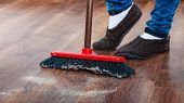 pic of broom  - Cleanup housework concept - JPG