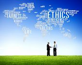 stock photo of morals  - Ethics Ideals Principles Morals Standards Social Rules Concept - JPG
