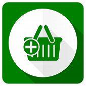 stock photo of cart  - cart flat icon shopping cart symbol  - JPG