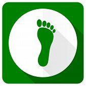 stock photo of webbed feet white  - foot flat icon   - JPG