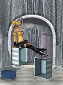 picture of fantasy  - Fantasy clown in a stage of fantasy - JPG