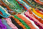 picture of beads  - Collage of a variety of beads for necklaces  - JPG