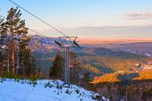 image of ropeway  - ropeway at mountain landscape shot at - JPG