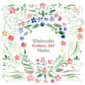 picture of combine  - Set of floral elements  - JPG