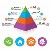 image of ventilator  - Pyramid chart template - JPG
