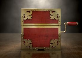 image of jack-in-the-box  - An ornate antique closed jack - JPG