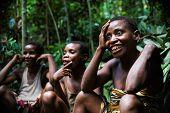 Baka Pygmies Women.