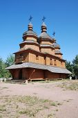 Wooden Orthodox Church On The Trampled Hill.