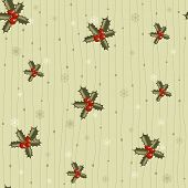 Christmas Seamless Pattern With Holy