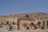 image of xerxes  - Ruins of historic city of Persepolis - JPG
