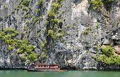 Tourist Boats In Halng Bay, Vietnam poster