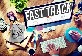 picture of track home  - Fast Track Increase Improvement Development Raising Concept - JPG