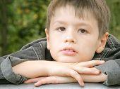 Portrait Of Serious Boy
