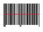 Empty Barcode With A Scan Line