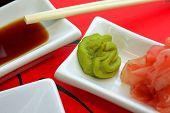 Japonese Sushi Sauce Apetizer