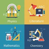Постер, плакат: Physics Chemistry Math Literature
