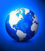stock photo of world-globe  - world globe illustration - JPG