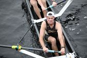 Boston - October 24: West Point Military Academy Men's Crew Competes In The Head Of The Charles Rega