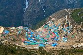 pic of sherpa  - Sherpa village of Namche Bazar located in Khumbu (Everest) region, Nepal.