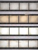 Vintage Scratched Film Strips