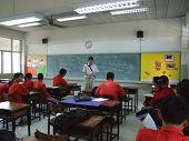 Students sit in the classroom, Bangkok, Thailand.